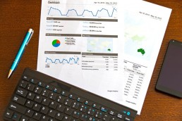 data and analytics printouts