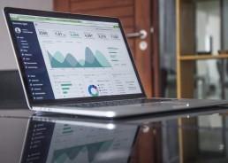laptop open to analytics dashboard