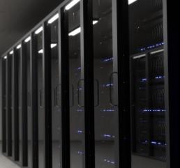 servers running storage data