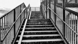 public stairway up to bridge