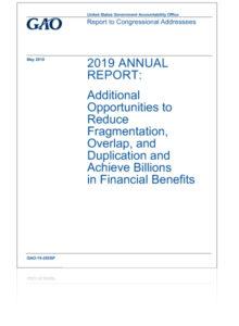 GAO 2019 Annual Report Cover