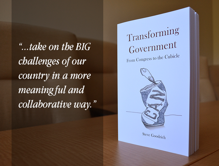 transforming government book with quote