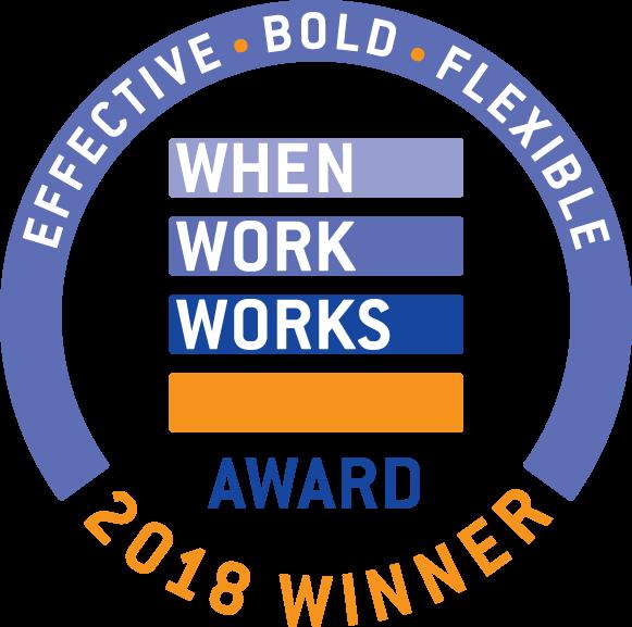 COE is a when work works 2018 award winner