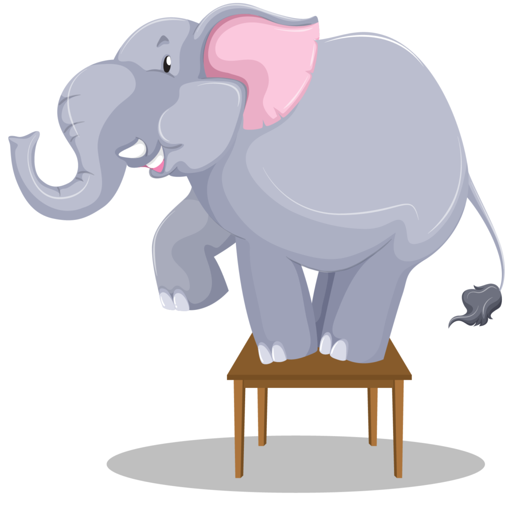 Elephant on Desk